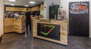 Stevens Custom Bikes in der neuen Radfieber Werkstatt