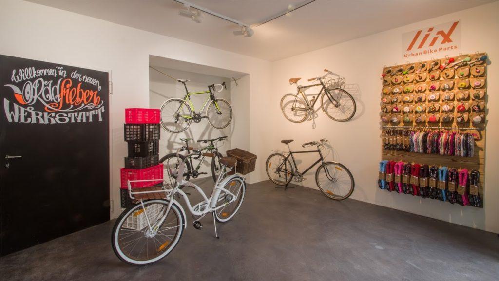 Schöne Räder sind in der neuen Radfieber Werkstatt auch zu bestaunen - und zu kaufen.