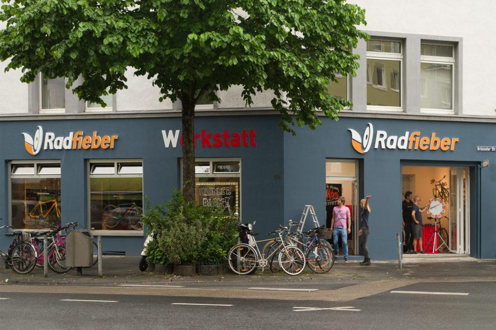 Außenansicht Radfieber Werkstatt Bismarckstraße 46 in Köln